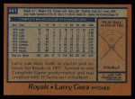 1978 Topps #441  Larry Gura  Back Thumbnail