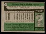 1979 Topps #27  Dave Goltz  Back Thumbnail