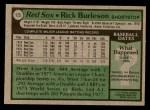 1979 Topps #125  Rick Burleson  Back Thumbnail