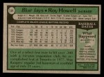 1979 Topps #101  Roy Howell  Back Thumbnail