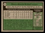 1979 Topps #21  Kevin Kobel  Back Thumbnail