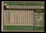 1979 Topps #43  Wayne Twitchell  Back Thumbnail