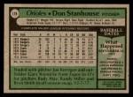 1979 Topps #119  Don Stanhouse  Back Thumbnail