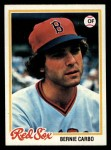 1978 Topps #524  Bernie Carbo  Front Thumbnail