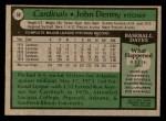 1979 Topps #59  John Denny  Back Thumbnail