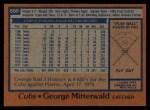 1978 Topps #688  George Mitterwald  Back Thumbnail