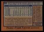 1978 Topps #685  Frank Taveras  Back Thumbnail