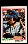 1978 Topps #254  Dave Collins  Front Thumbnail