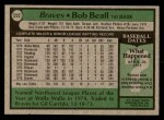1979 Topps #222  Bob Beall  Back Thumbnail