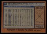 1978 Topps #533  Sandy Alomar  Back Thumbnail