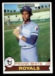 1979 Topps #439  Frank White  Front Thumbnail