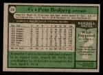 1979 Topps #578  Pete Broberg  Back Thumbnail