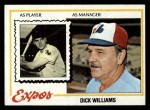 1978 Topps #522  Dick Williams  Front Thumbnail