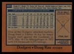 1978 Topps #641  Doug Rau  Back Thumbnail