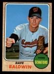 1968 Topps #231  Dave Baldwin  Front Thumbnail