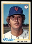 1978 Topps #481  Jackson Todd  Front Thumbnail