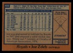1978 Topps #408  Joe Zdeb  Back Thumbnail
