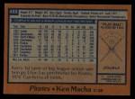 1978 Topps #483  Ken Macha  Back Thumbnail