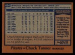 1978 Topps #494  Chuck Tanner  Back Thumbnail