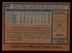 1978 Topps #257  Hector Cruz  Back Thumbnail