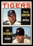 1964 Topps #512   -  Willie Horton / Joe Sparma Tigers Rookies Front Thumbnail