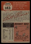 1953 Topps #143  Bill Pierce  Back Thumbnail