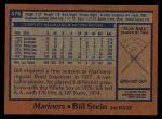 1978 Topps #476  Bill Stein  Back Thumbnail
