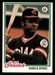1978 Topps #459  Charlie Spikes  Front Thumbnail
