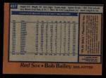 1978 Topps #457  Bob Bailey  Back Thumbnail