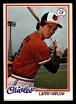 1978 Topps #543  Larry Harlow  Front Thumbnail