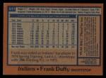 1978 Topps #511  Frank Duffy  Back Thumbnail