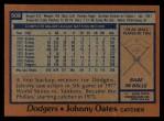 1978 Topps #508  Johnny Oates  Back Thumbnail