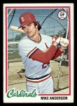 1978 Topps #714  Mike Anderson  Front Thumbnail