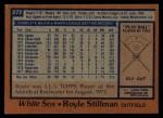 1978 Topps #272  Royle Stillman  Back Thumbnail