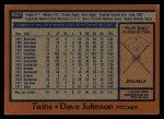 1978 Topps #627  David Johnson  Back Thumbnail
