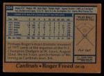 1978 Topps #504  Roger Freed  Back Thumbnail