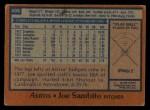 1978 Topps #498  Joe Sambito  Back Thumbnail