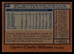 1978 Topps #561  Charlie Williams  Back Thumbnail