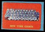 1963 Topps #60   Giants Team Front Thumbnail