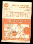 1963 Topps #126  Preston Carpenter  Back Thumbnail