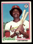 1978 Topps #452  Jerry Mumphrey  Front Thumbnail