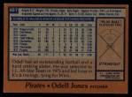 1978 Topps #407  Odell Jones  Back Thumbnail