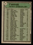 1979 Topps #41   -  Gene Mauch Twins Team Checklist Back Thumbnail