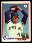 1978 Topps #474  Jim Slaton  Front Thumbnail