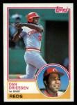 1983 Topps #165  Dan Driessen  Front Thumbnail