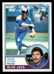 1983 Topps #130  Dave Stieb  Front Thumbnail