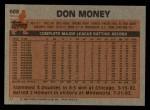 1983 Topps #608  Don Money  Back Thumbnail