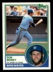 1983 Topps #608  Don Money  Front Thumbnail