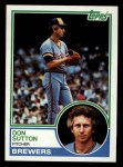 1983 Topps #145  Don Sutton  Front Thumbnail