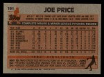 1983 Topps #191  Joe Price  Back Thumbnail